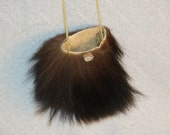Native American Style Black Bear Medicine Bag