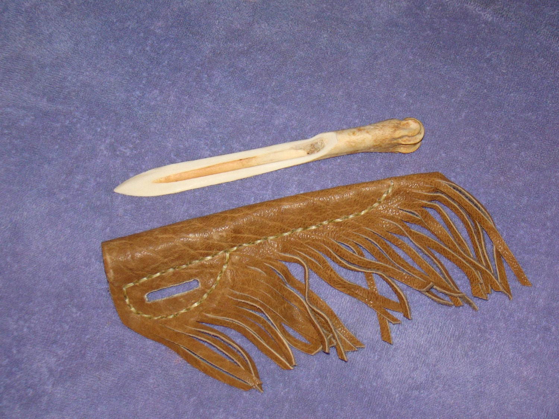 Native American Style Deer Bone Knife and Sheath by tipiman: https://www.etsy.com/listing/69143671/native-american-style-deer...