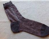 Vintage lisle cotton men socks - made in France size 12