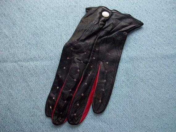 Vintage leather men golf glove - size 9.5