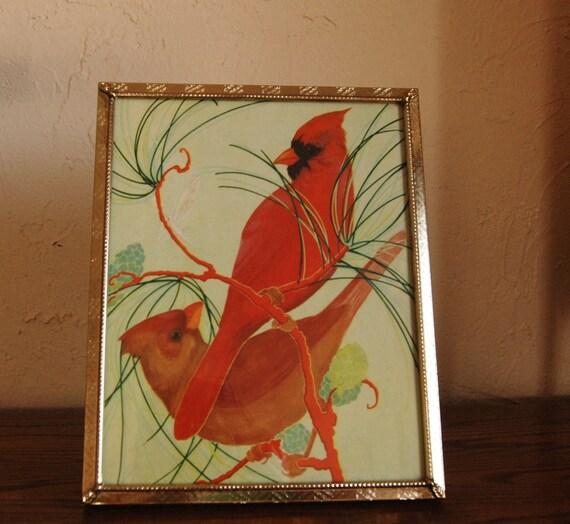 Vintage framed children's book illustration