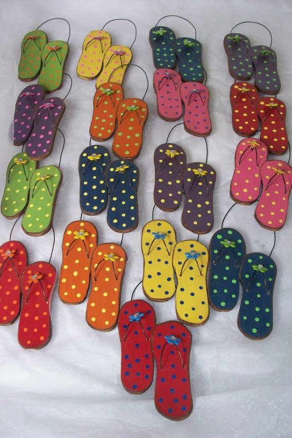 SUMMER TIME Flip Flop Ornaments