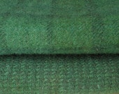 GREEN  Hand Dyed Felted Wool Fabric  for Rug Hooking and Applique Half Yard Bundle