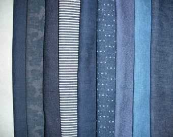 Denim Fabric Remnants as Shown in Picture ... 3 Pounds of Fabric ... 5009M