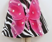 Zebra and Pink Butterfly Nightlight