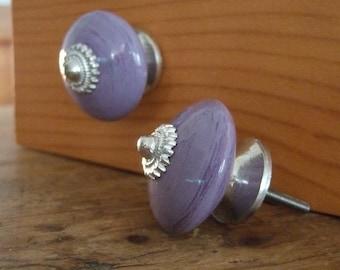 Lavender Ceramic Cabinet Knobs