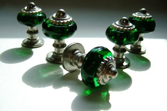 Little Green Glass Knob