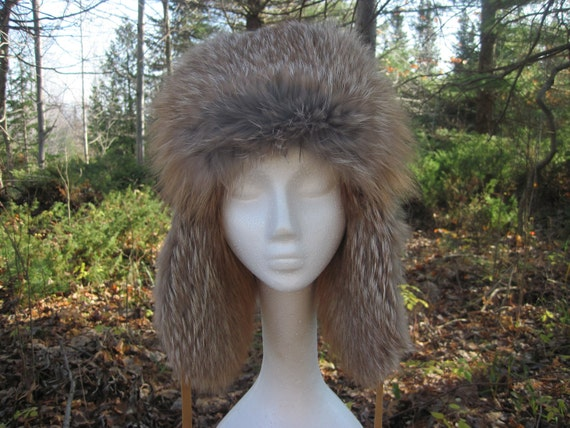 Dakota Gold Fox Fur, Suede Hat