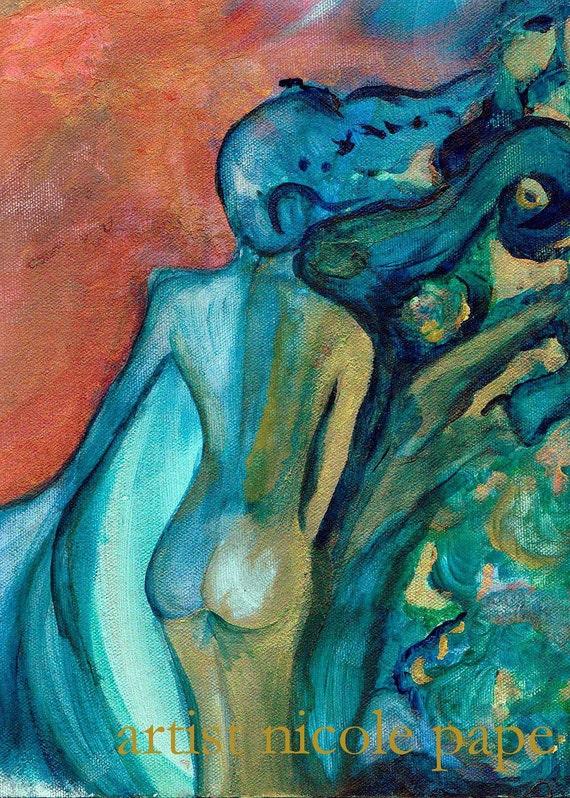 Acrylic Print, Feeling Free-Lady of the Sea