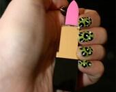 Lip Stick Necklace Inspired By Lady Gaga and Nicki Minaj (laser cut acylic)