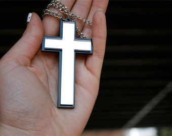 Custom Cross Necklace (laser cut)