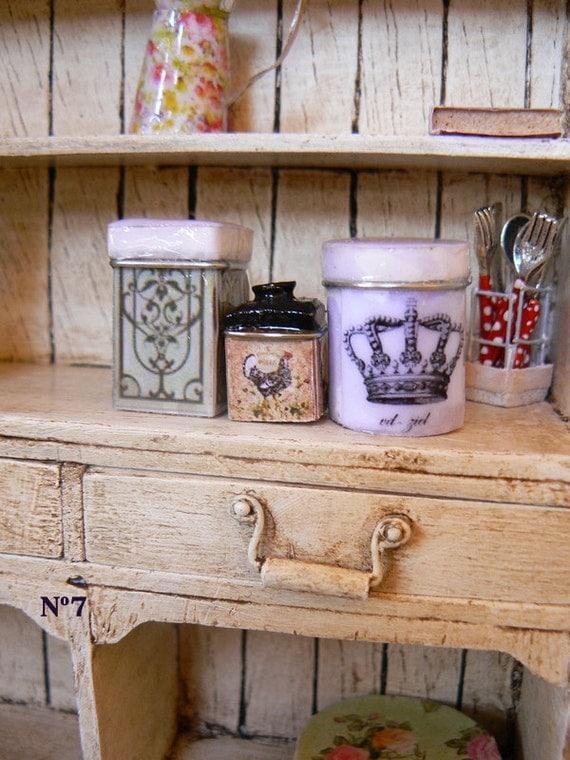 Kitchen jars dollhouse 1:12 scale
