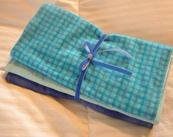 Burp Cloths for Baby Boys -  3 Extra Large