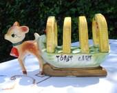 Kitch Novelty bambi toast rack