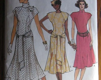 Vogue Womens Dress Pattern  9548      Size 12.14.16