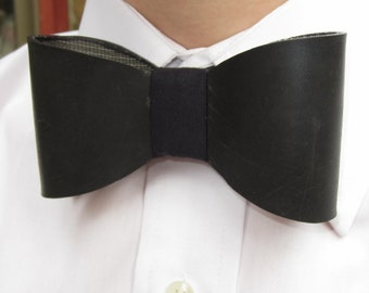 Upcycled Rubber Rain Boot Bow Tie