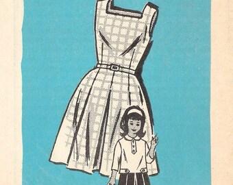 CLEARANCE Girl's Dress 1960s Anne Adams Pattern 4930  (Girls size 6)
