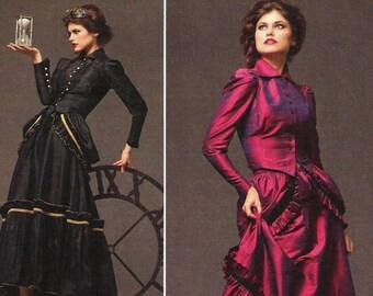 Steampunk Bustle Dress Pattern Simplicity 2207 (Womens sizes 14-16-18-20)