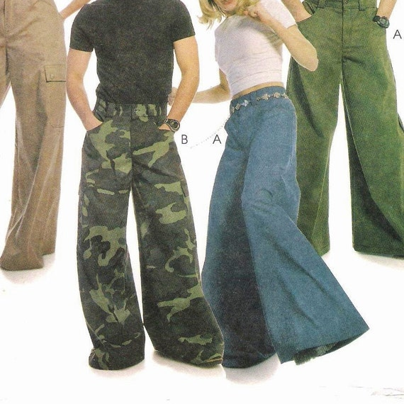 McCalls 2360 Mens and Womens Wide Leg Pants Pattern by StitchySpot