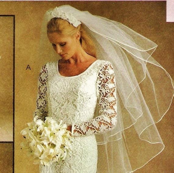 Sheath Wedding Gown Pattern : Plus size sheath bridal gown pattern mccalls womens