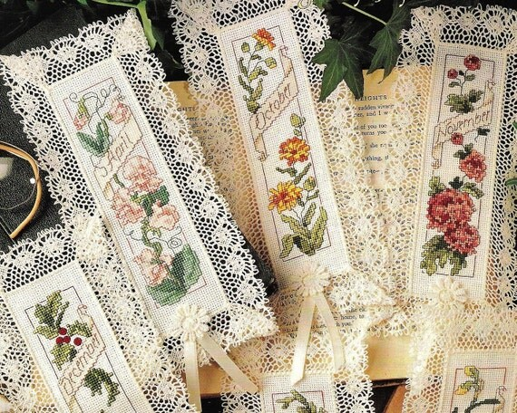 Cross Stitch Birthday Bookmark Patterns