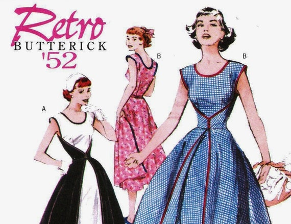 1950s Wrap Dress Pattern Butterick 4790 (Womens sizes 16-18-20-22)