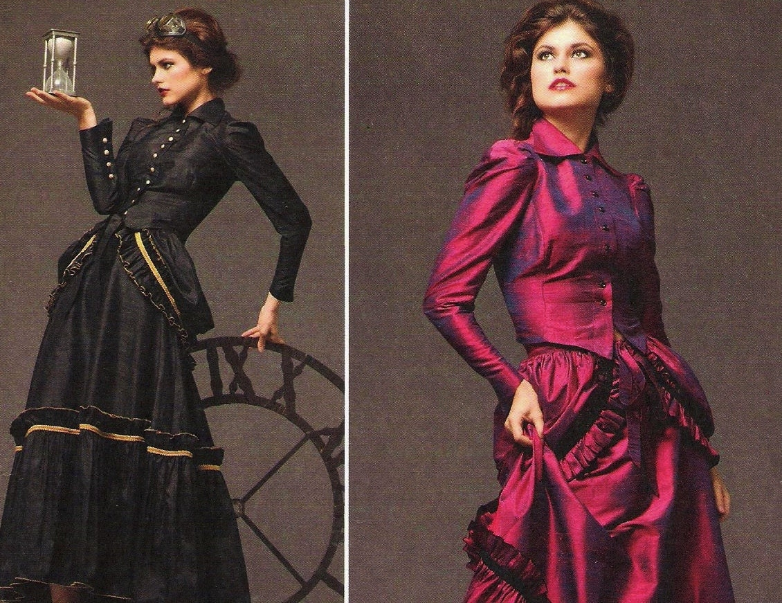steampunk bustle dress pattern simplicity 2207 by stitchyspot