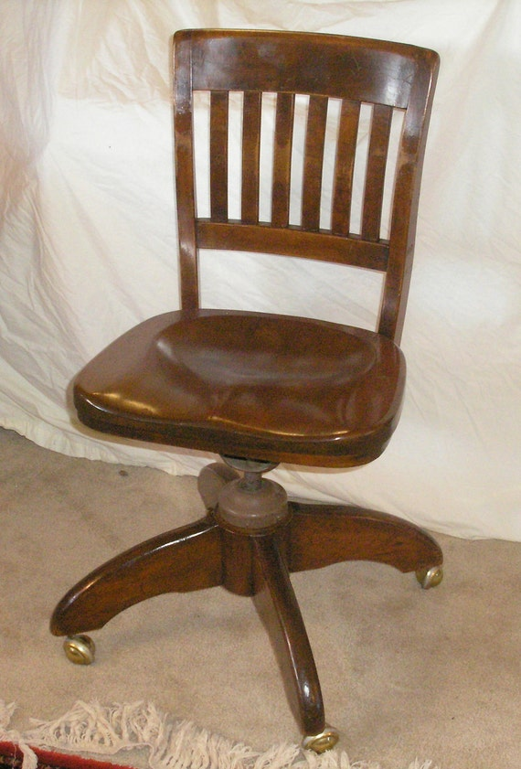 reserved for franklin daniel vintage wood office chair industrial era