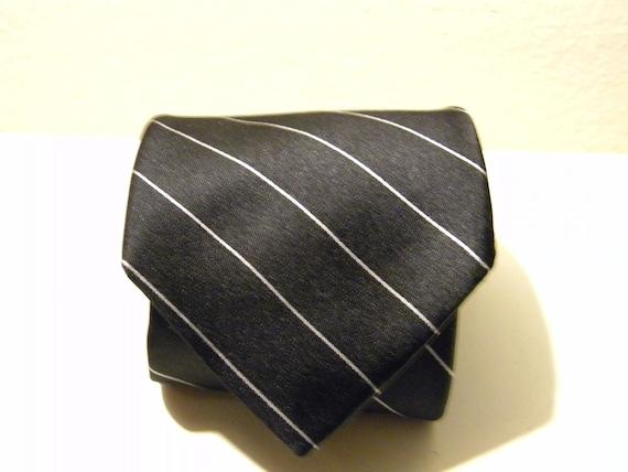 Black DKNY silk tie