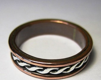 Silver and copper Viking/Celt ring