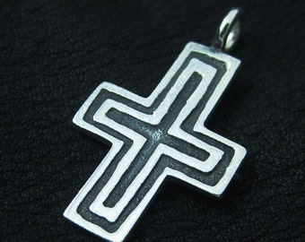 Silver medieval cross