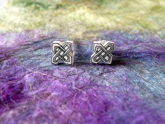Celtic Knot Miniature Stud Earrings