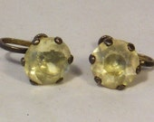 Vintage 925 Sterling Silver With Set Stone Earrings Z19