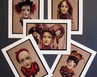 Sir Cedric's Clowns Greeting Cards / 5 Card Mix