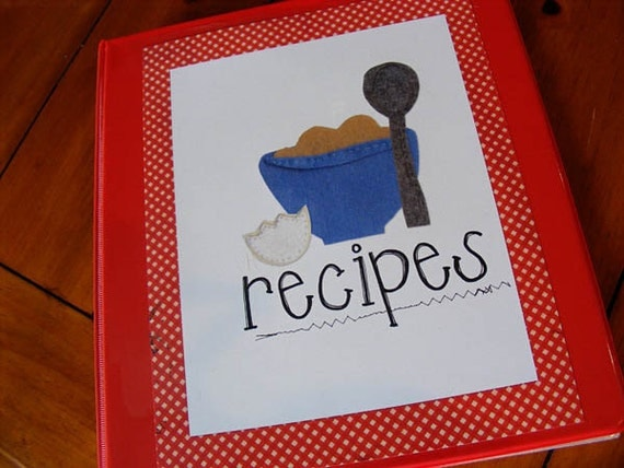Printable Recipe Binder Categories