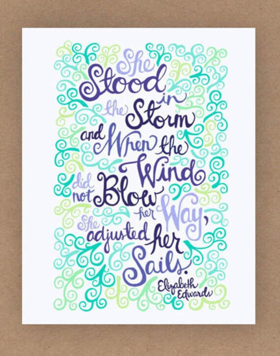8x10-in Elizabeth Edwards Quote Illustration Print
