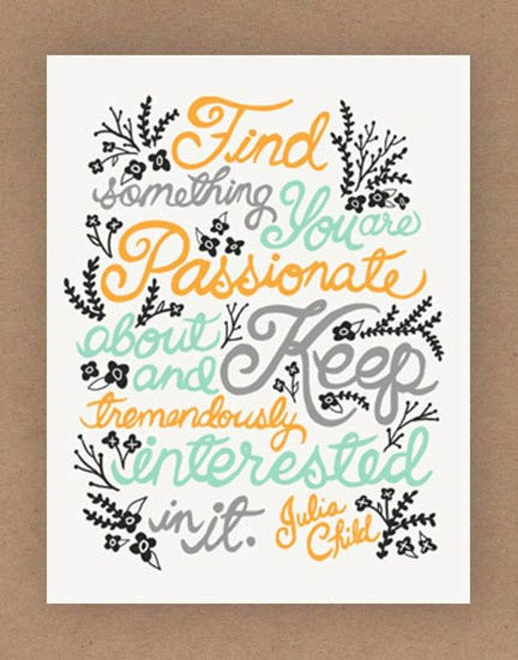 8x10-in Julia Child Quote Illustration Print