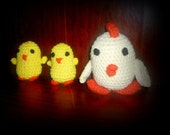 Lovely Chicken Family amigurumi