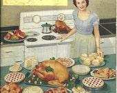 Hotpoint Electric Range Vintage Cookbook Happy Homemaker Illustrations