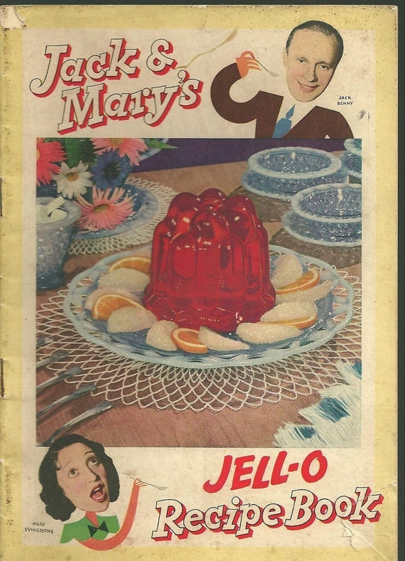 1937 Vintage Cookbook Jello Jell-O Advertising Cook Book Jack & Mary Benny Livingstone