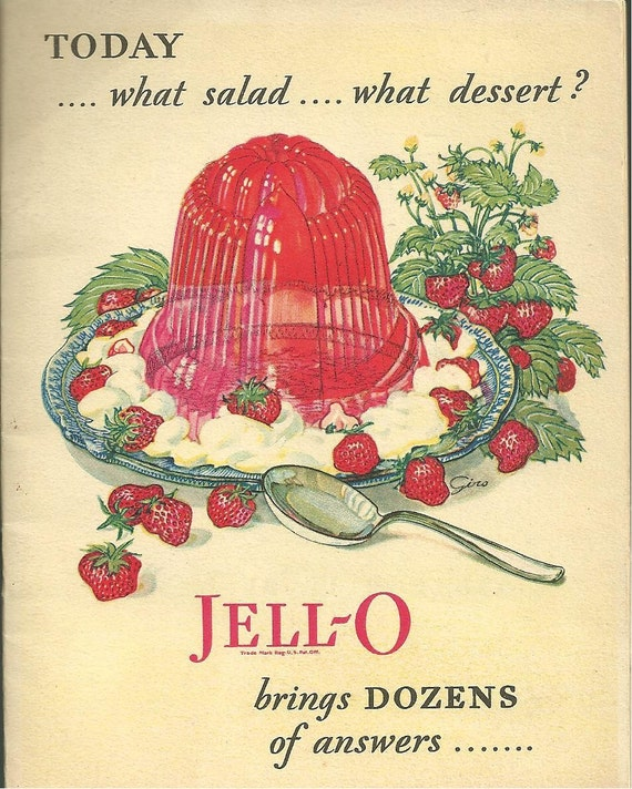 1928 Vintage Cookbook Jello Vintage Advertising Cook Book Jell-o
