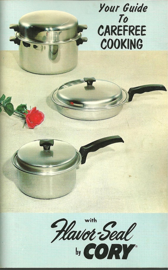 1950s Vintage Cookbook Cory Flavor Seal Cookware Advertising Cook Book