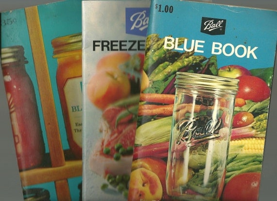 Vintage Canning Cookbooks Collection Ball Blue Book Freezing