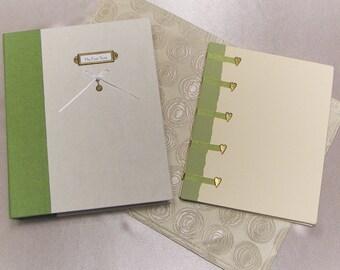 Hand-bound baby book