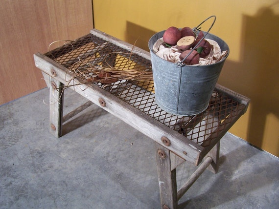 Upcycled antique ladder coffee table or potting by woodandfire for Ladder coffee table