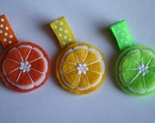 Felt Citrus Trio Clippie Set