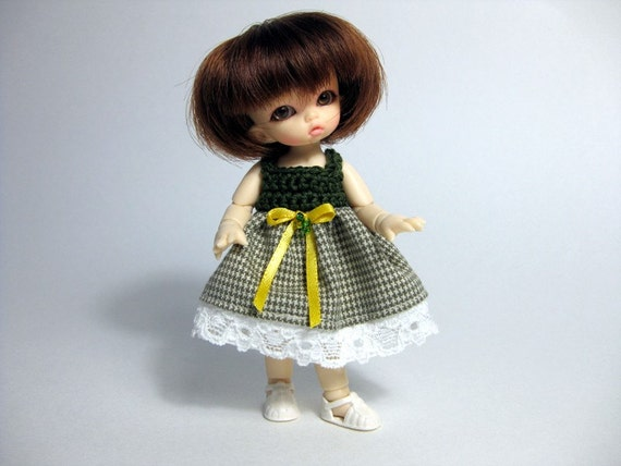 PRICE REDUCTION - Houndstooth and Lace PukiPuki Dress