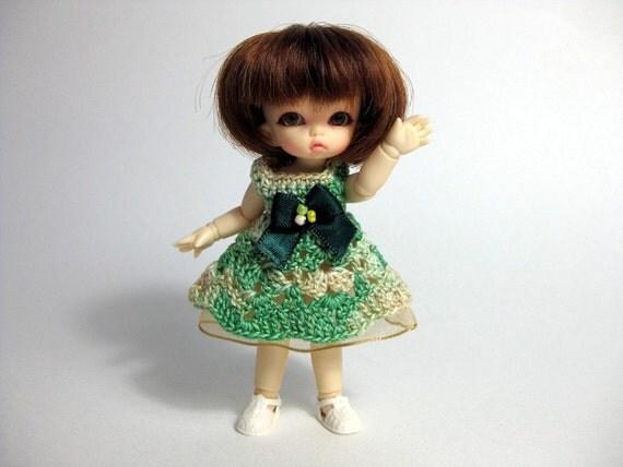 Crocheted PukiPuki Dress with Underskirt