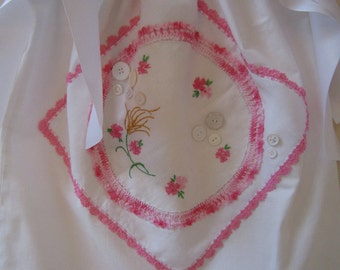 Pink and White Pillowcase Dress