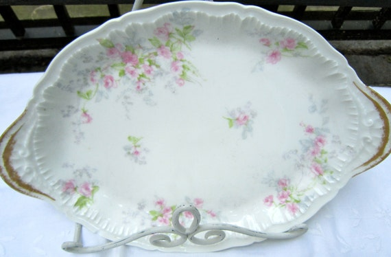 French Limoges with Pink Roses